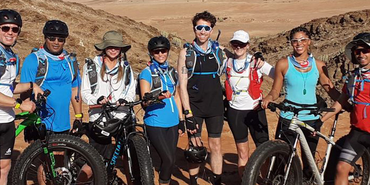 Celebrity desert trek place Namibia on map