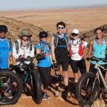 Celebrity desert trek place Namibia on map