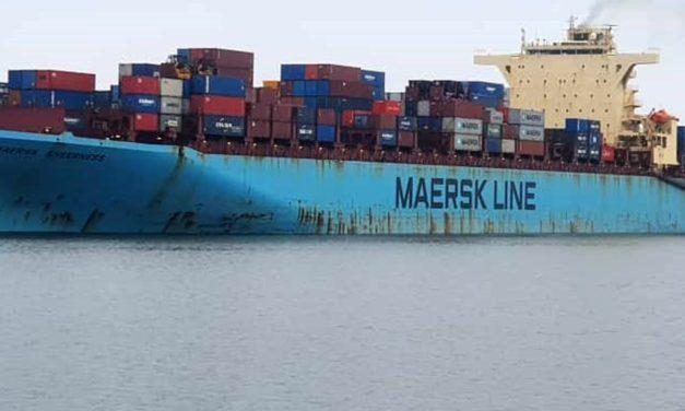 Maersk Sheerness docks at Walvis Bay