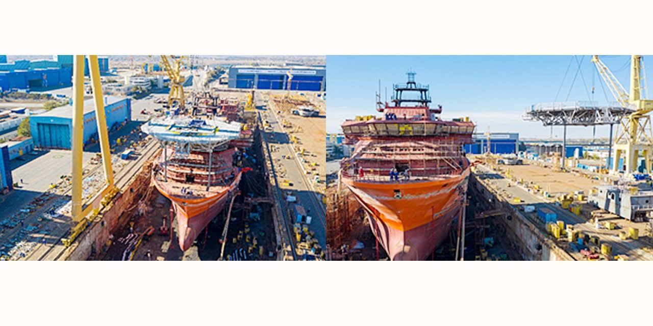 Debmarine Namibia's diamond vessel takes shape