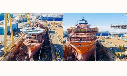 Debmarine Namibia's diamond vessel takes shape