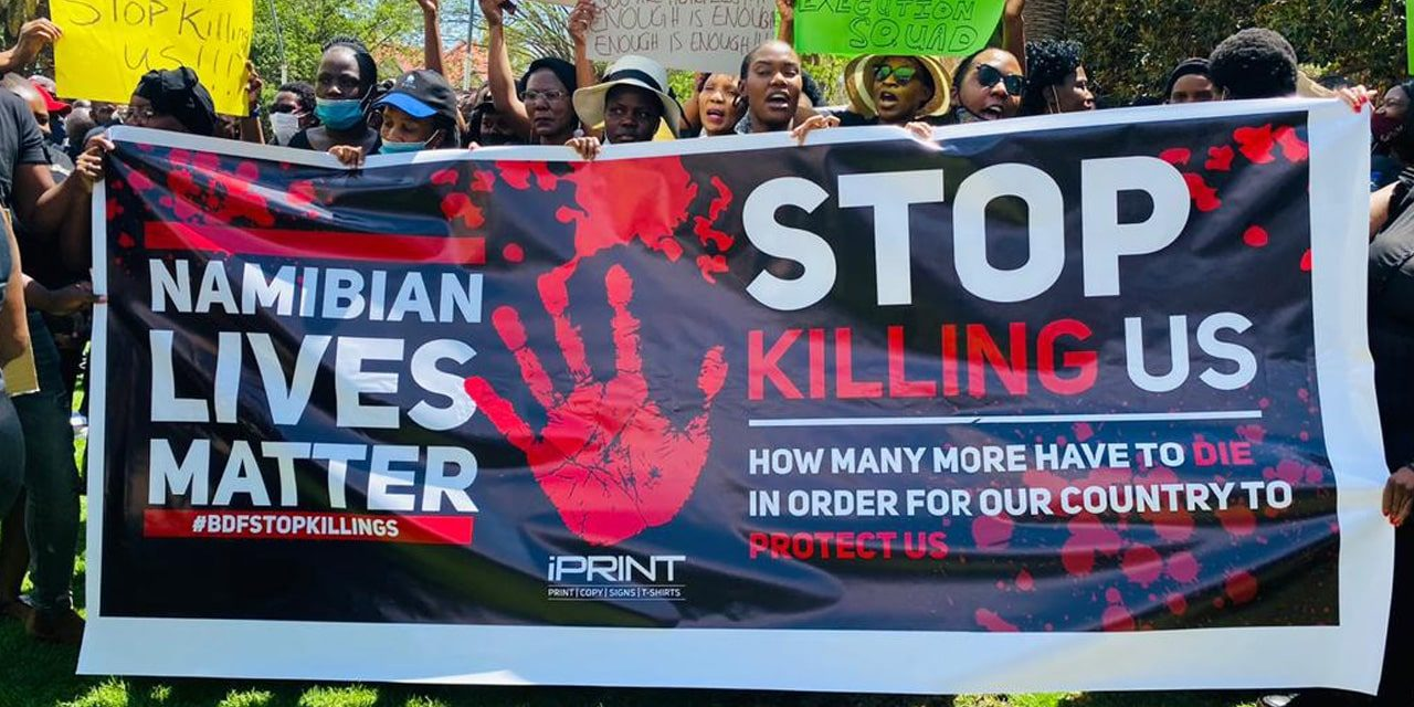 Thousands demonstrate against BDF killings