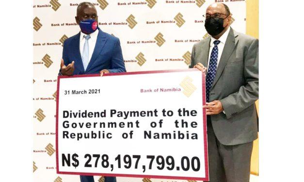BoN declares N$278m dividend