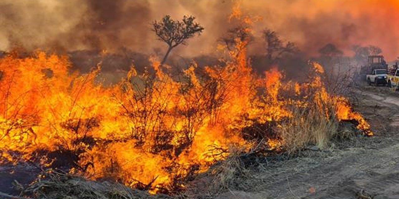 Etosha National Park on fire since Monday